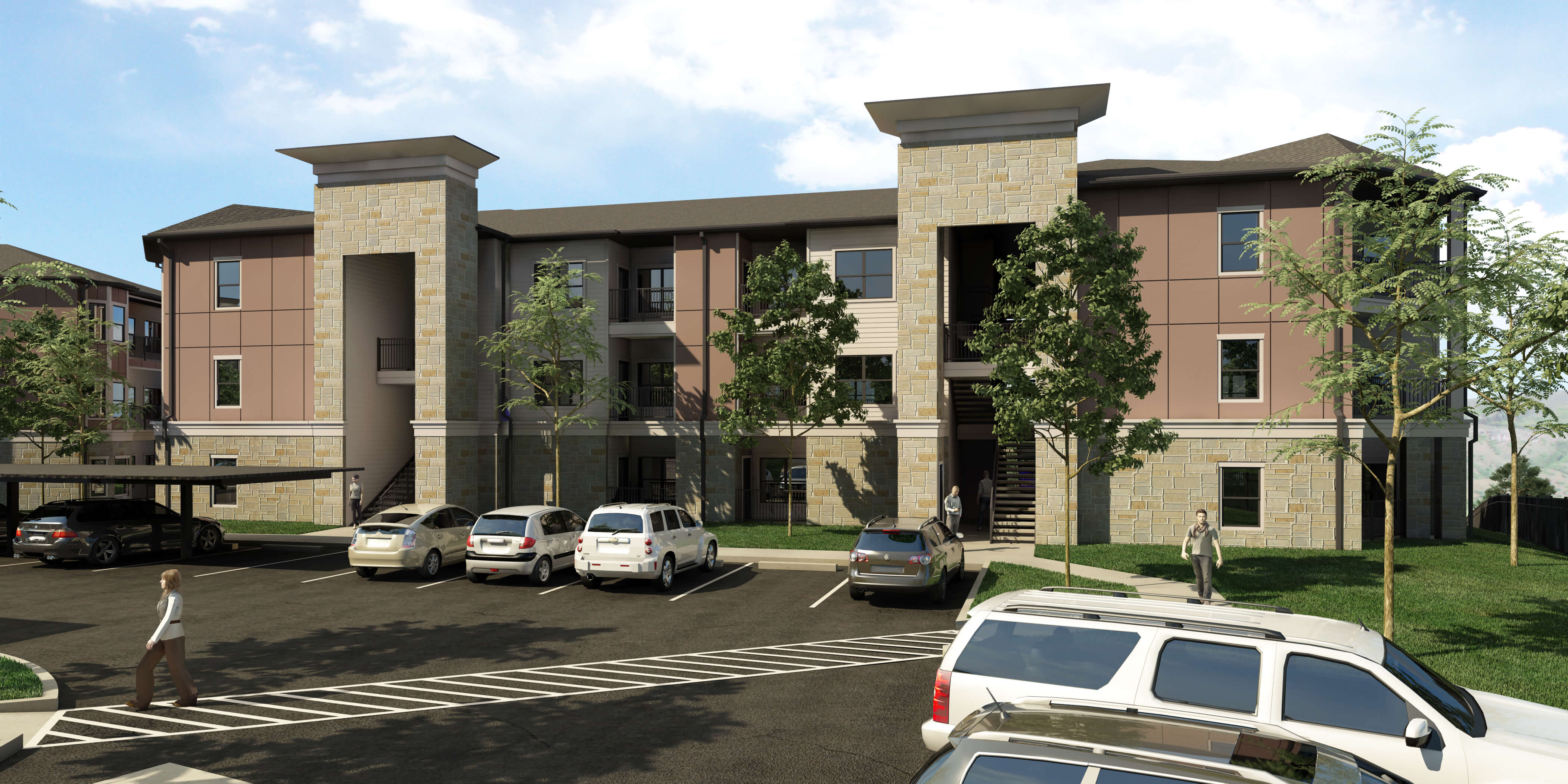The Residence at Gateway Village 3D Render