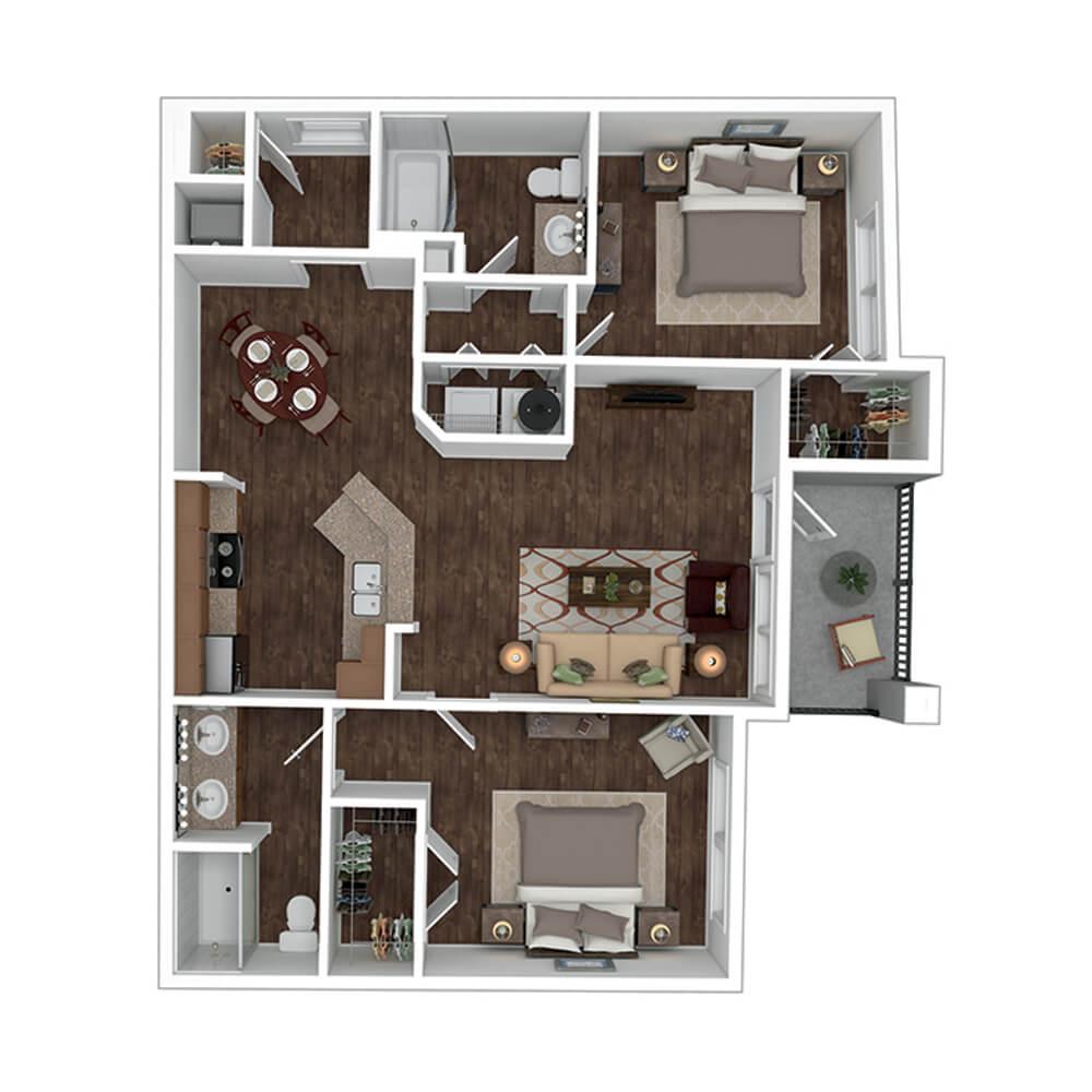 The Residence at Gateway Village Plan C