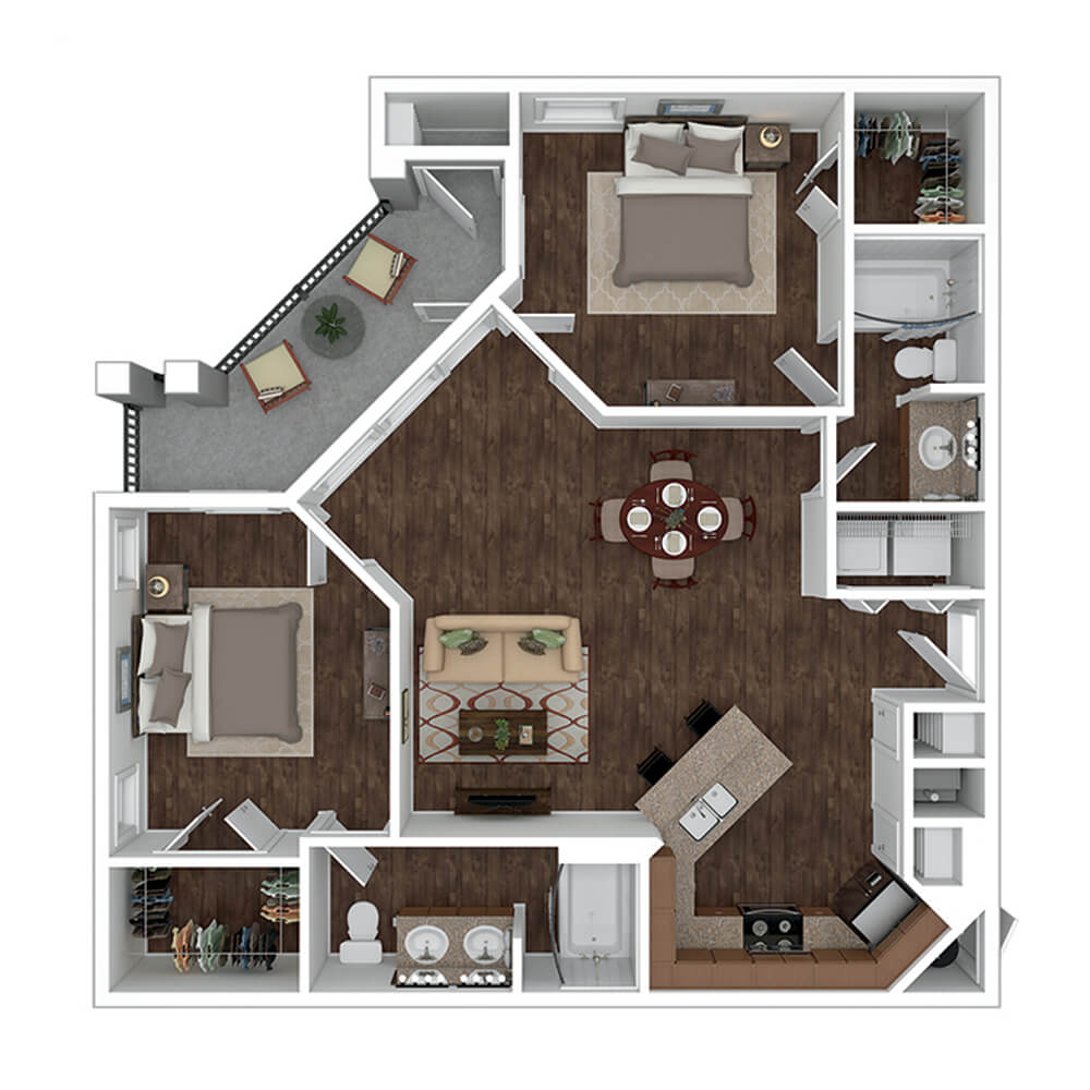 The Residence at Gateway Village Plan E