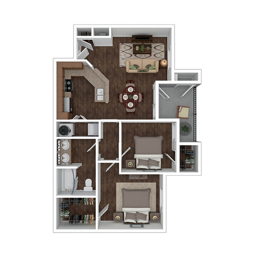 The Residence at Gateway Village Plan D2