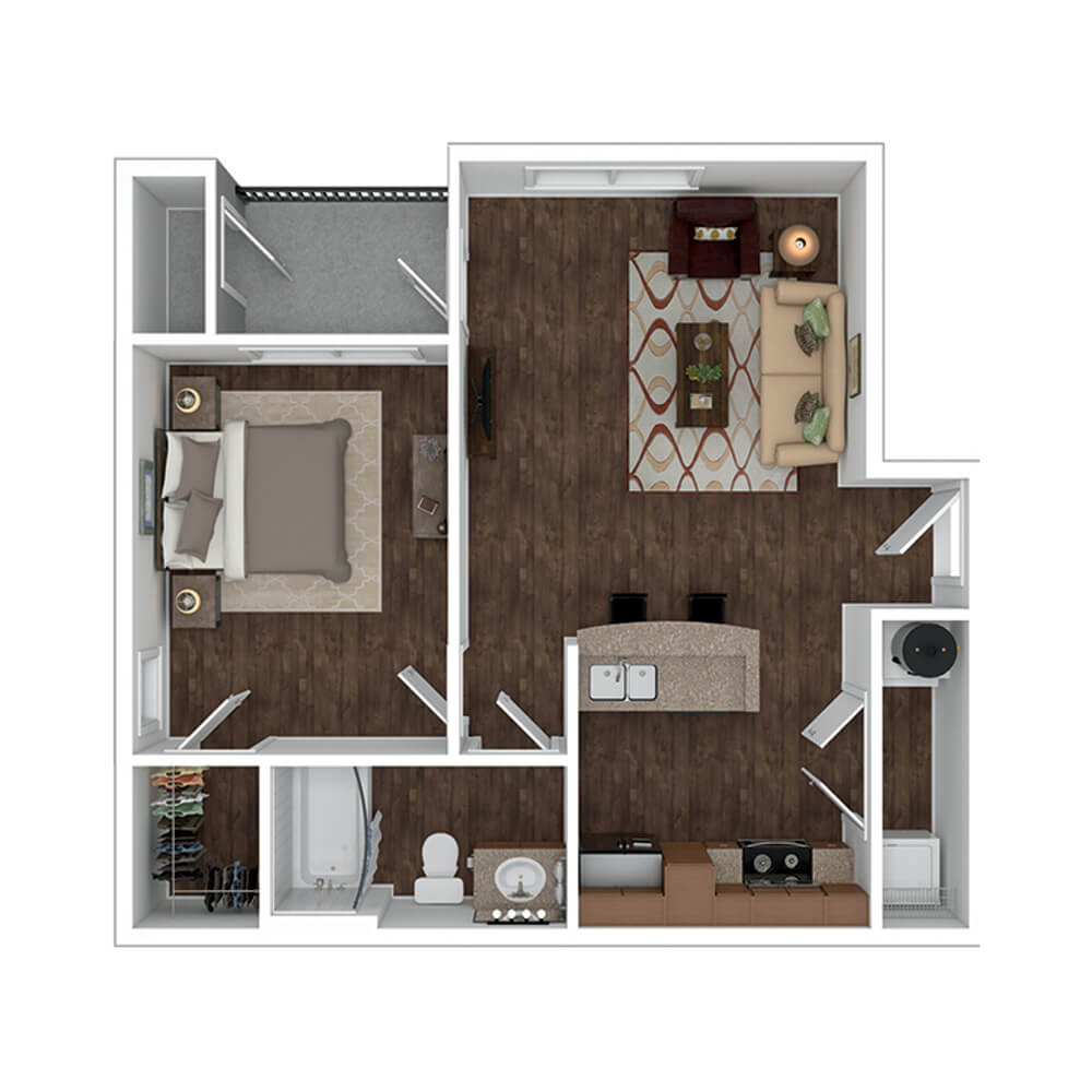 The Residence at Gateway Village Plan A