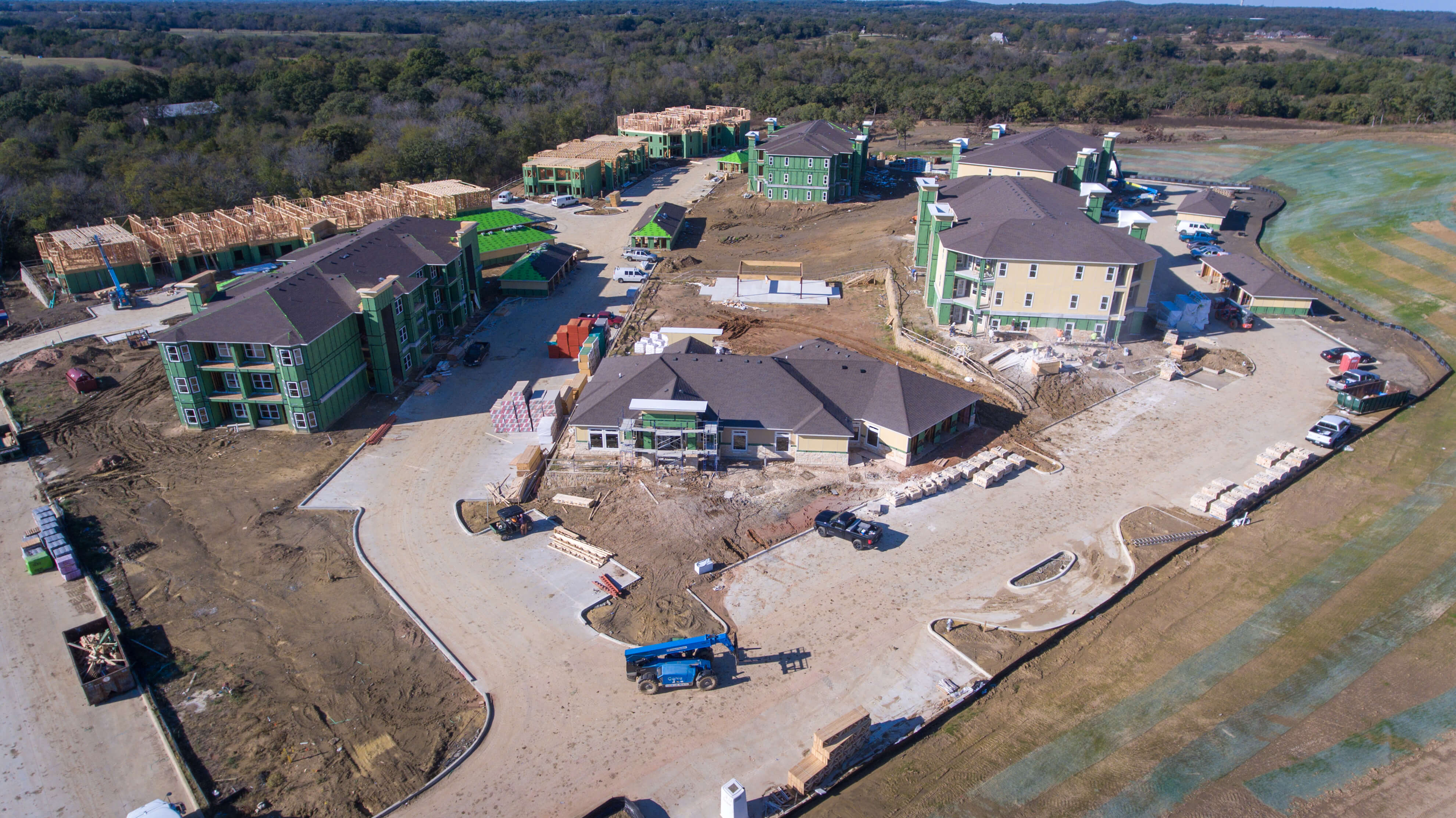 The Residence at Gateway Village Construction Site Aerial View