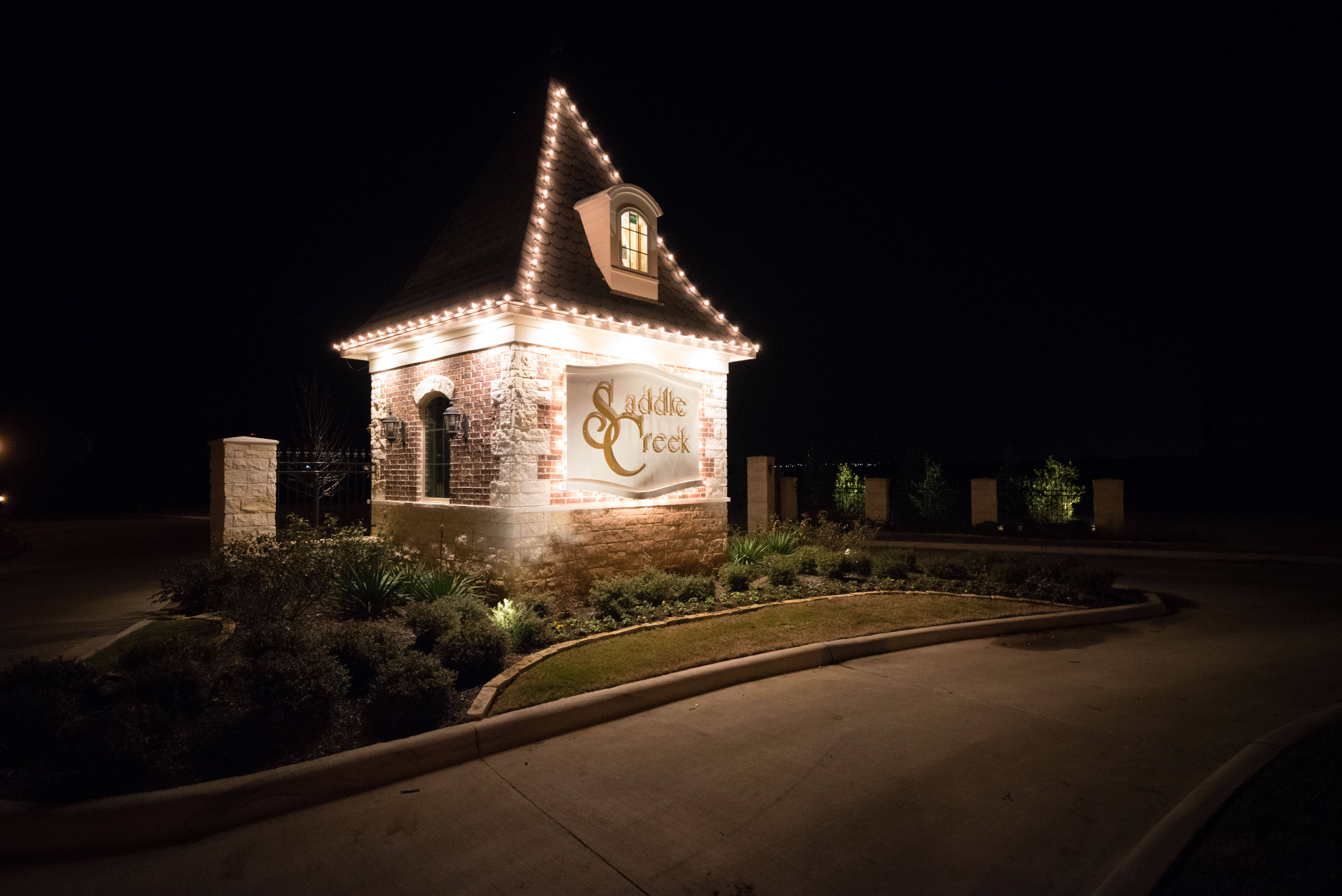 Saddle Creek Entrance Christmas Lights
